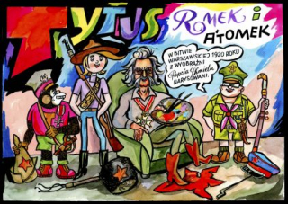 Tytus Romek i A'Tomek w Bitwie Warszawskiej 1920 roku z wyobraźni Papcia Chmiela narysowani - okładka