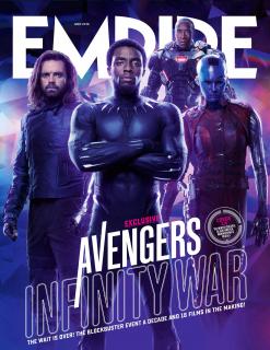 Avengers: Wojna bez granic - okładka magazynu Empire