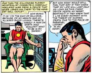 Najdziwniejsze momenty komiksowych Mścicieli - Tony Stark musi podłączać się do gniazdka (2)
