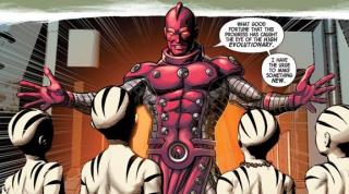 High Evolutionary - w komiksach zarówno przeciwnik, jak i przyjaciel Avengers; jego historia wiąże się z Misterem Sinisterem; dzięki swojej zbroi jest praktycznie nieśmiertelny, posiada takcze zdolności psioniczne i telepatyczne