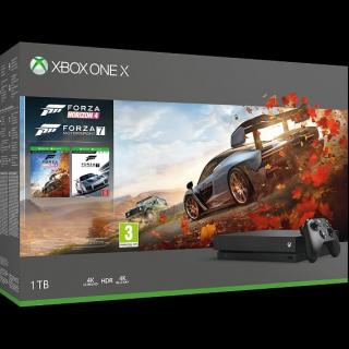 Konsola Xbox One X z dyskiem twardym 1TB i grami Forza Horizon 4 i Forza Motorsport 7 – 1699 zł