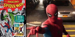 Tablice rejestracyjne aut to znów cały szereg komiksowych nawiązań. TASM 143 odnosi się do komiksu The Amazing Spider-Man #143, w którym Pajączek wybrał się do Paryża, by walczyć z Cyklonem. Fury i Maria Hill podróżują samochodem zarejestrowanym jako MTU 83779, który najprawdopodobniej odnosi się do zeszytu Marvel Team-Up #83, wydanego w lipcu 1979 roku. Na łodzi pojawia się z kolei oznaczenie ASM 212, będące nawiązaniem do Amazing Spider-Man #212, w którym debiutował Hydro-Man.
