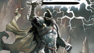 Gdy MJ, Flash, Ned, Betty i Happy ukrywają się w londyńskiej Tower, jedna ze zbroi do złudzenia przypomina strój komiksowego herosa Marvela, Black Knighta.