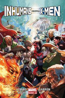Inhumans kontra X-Men - okładka