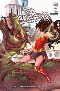Liga Sprawiedliwości. Totalność, tom 1 – polska okładka Wonder Woman Kraków