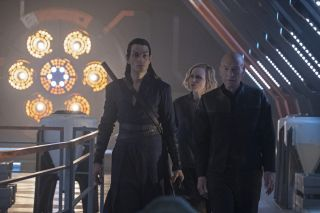 Zaangażowanie Picarda z gościnną rolą w filmie Quentina Tarantino półtora roku temu wydawało się fajnym pomysłem. Zdecydowanie wolę jednak serial z nim w roli głównej, czyli Star Trek: Picard. / Fot. CBS
