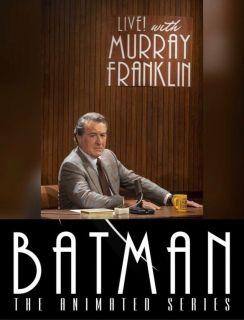 """Logo programu Murraya Franklina napisane jest dokładnie tą samą czcionką, co napisany widoczne w serialu animowanym """"Batman"""" z lat 90."""