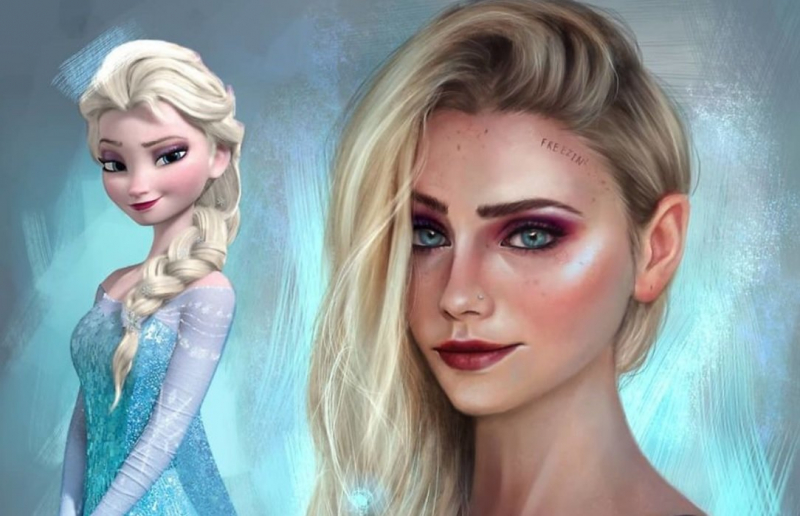 Realistyczne portrety animowanych bohaterek. Zobacz galerię