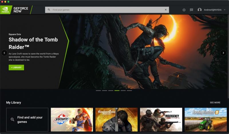 GeForce NOW będzie wyglądać jak Netflix