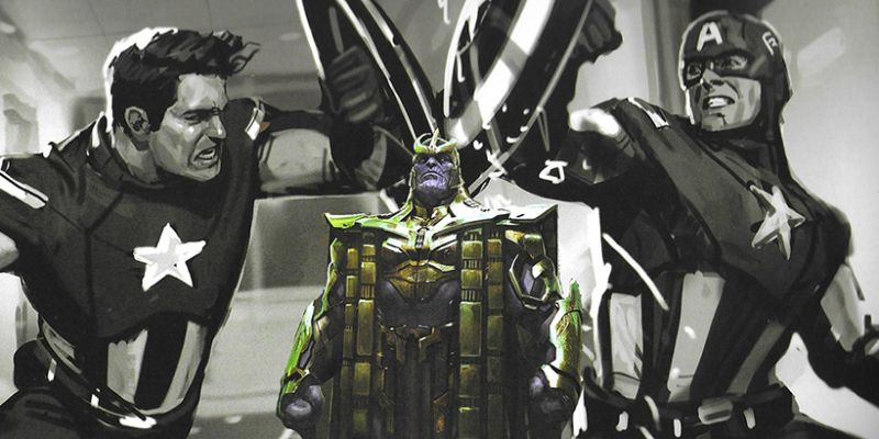 Avengers: Endgame - Hulk okłada Thanosa, a Cap... Capa. Te szkice robią furorę