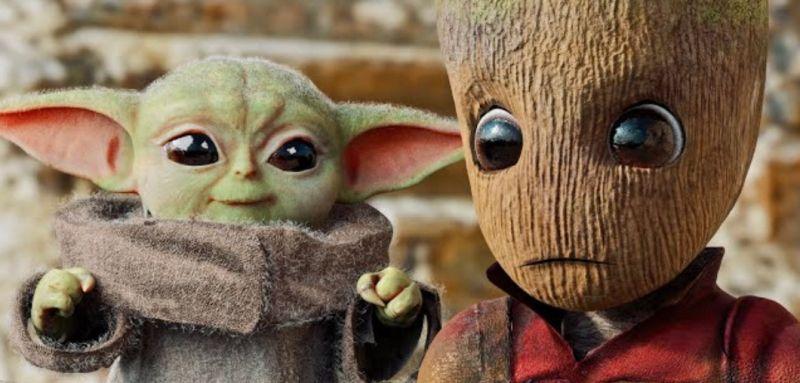 Baby Yoda kontra Baby Groot. Zobacz świetną fanowską krótkometrażówkę
