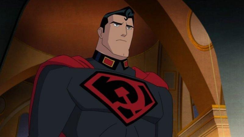 Superman: Red Son - fragment filmu animowanego. Radziecki Człowiek ze stali i Stalin