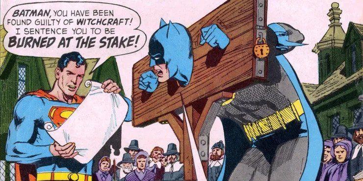 Był czas, że Superman chciał spalić Batmana na stosie. Widział w nim... czarownicę