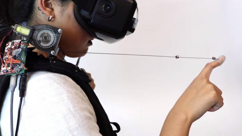 Okablowany kontroler pozwoli poczuć przedmioty w VR