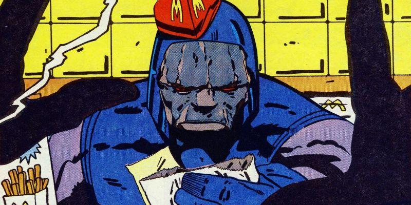 Wiedzieliście, że Darkseid pracował kiedyś w... McDonald's? Bóg rozdający frytki