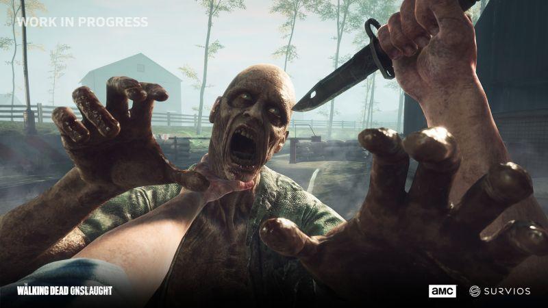 The Walking Dead Onslaught i zombie w VR. Zobacz zwiastun z rozgrywką