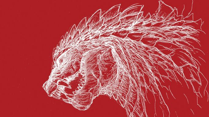 Godzilla: Singular Point - Król Potworów na szkicu z serialu anime Netflixa
