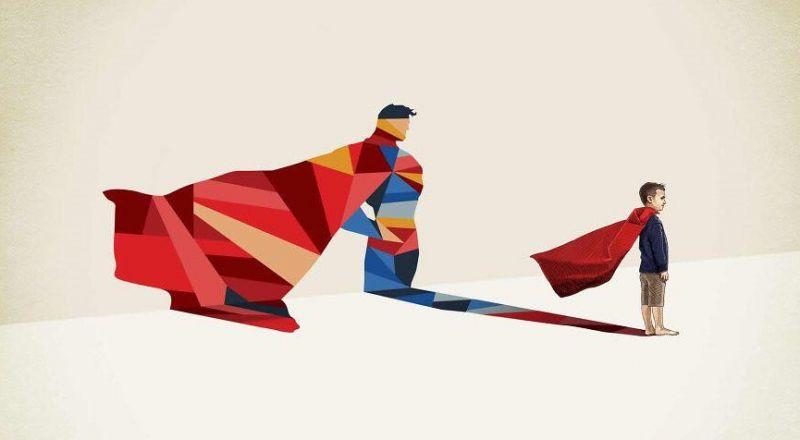 Tak niewiele trzeba, by zostać Supermanem. Artysta pokazuje, jak działa dziecięca wyobraźnia