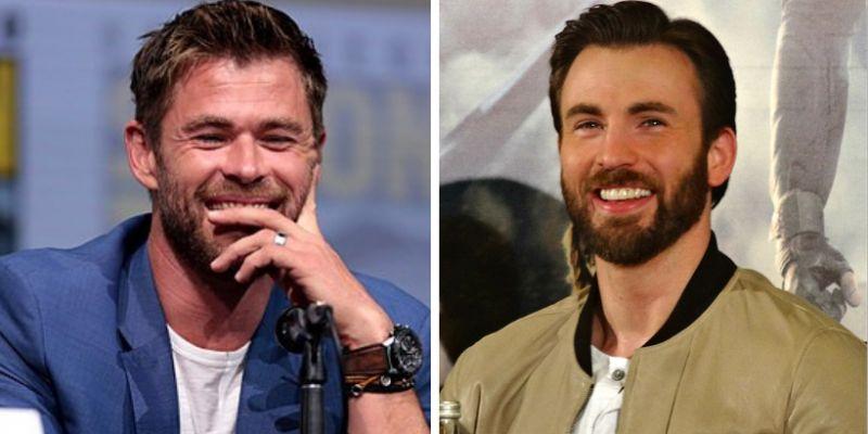 """Chris Hemsworth """"trolluje"""" Chrisa Evansa z okazji jego urodzin. Fani zachwyceni"""