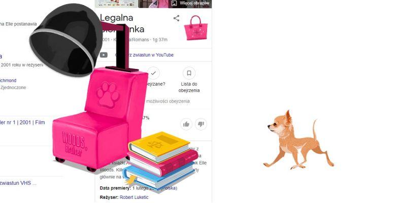 Legalna blondynka pokoloruje Google na różowo