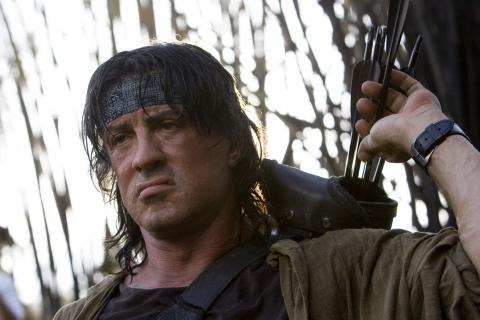 Sylvester Stallone jako Rambo. Oficjalne zdjęcie z filmu