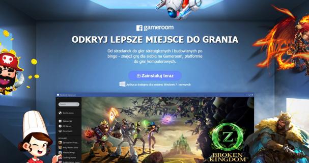 Wystartował Gameroom – platforma z grami od Facebooka