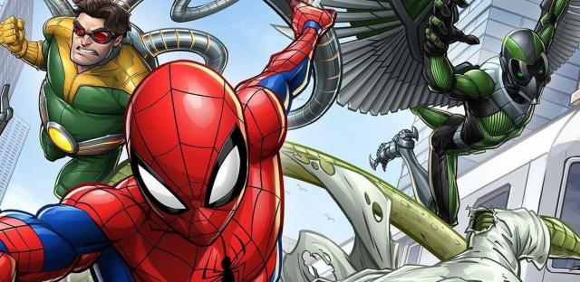 Animowany Spider-Man tak dobrze jeszcze nie wyglądał. Grafika ze złoczyńcami