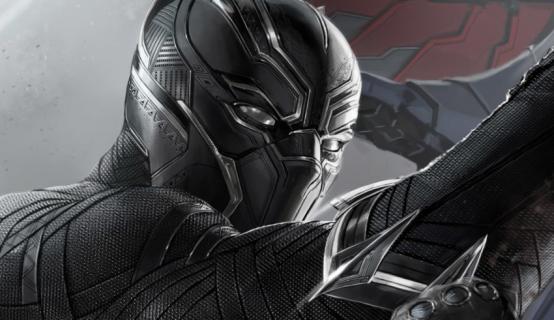 Czarna Pantera na szkicu koncepcyjnym z filmu Kapitan Ameryka: Wojna Bohaterów