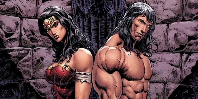 Lasso Prawdy Wonder Woman w rękach Conana