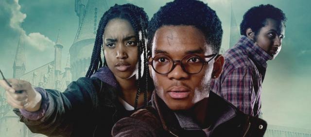 Czarni aktorzy na plakatach znanych filmów. Ciekawa akcja w Londynie