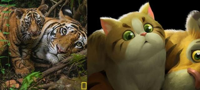Zwierzęta ze zdjęć National Geographic w kreskówkowym stylu. Zobacz galerię
