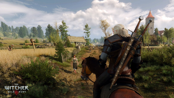 Geralt i gryf. Zobacz wyjątkową, limitowaną grafikę z gry Wiedźmin 3: Dziki Gon
