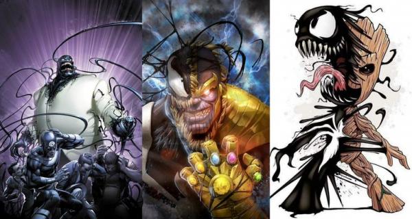 Venom zaczaił się na MCU i postacie Marvela. Oto efekt – zobacz grafiki