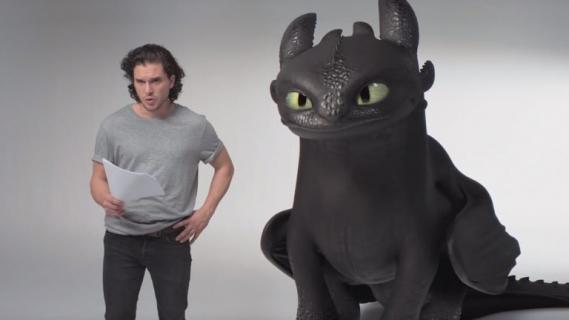 Jak wytresować smoka 3 – Jon Snow i Szczerbatek na castingu. Zabawne wideo