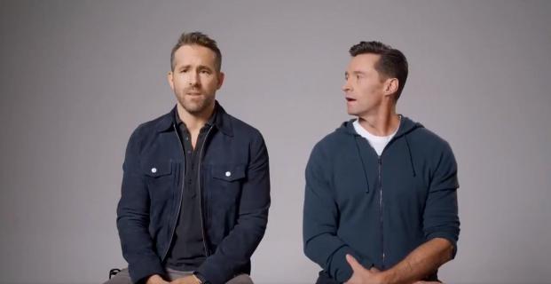 Hugh Jackman nago w reklamie. Ryan Reynolds żartuje