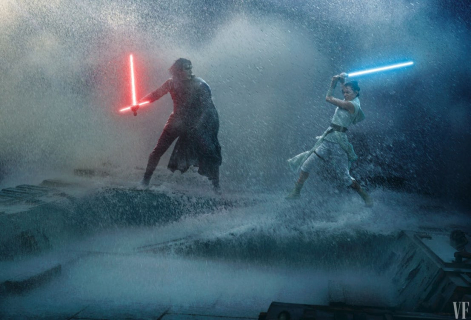 Gwiezdne Wojny: Skywalker. Odrodzenie - Rey kontra Kylo i imperator w tle! Klimatyczny plakat