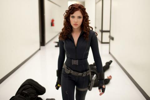 MCU - Czarna Wdowa po raz pierwszy w kostiumie. Jest zdjęcie z Iron Mana 2