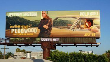 Pewnego razu... w Pedowood? Billboardy z filmem Tarantino przerobione