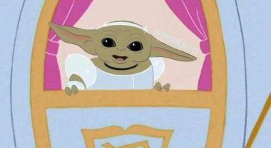 Baby Yoda jako księżniczki Disneya. Nowe prace fanów z całego świata