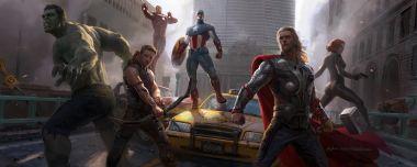 Pamiętacie Avengers z 2012? Spójrzcie tu - bitwa, kostiumy, jest Thanos! (Szkice)