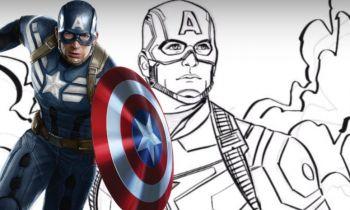 MCU - narysuj sobie własnego Kapitana Amerykę. Grafik Marvel Studios pokazuje, jak