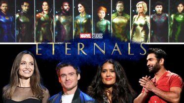 Eternals - grafika w dobrej jakości pokazuje bohaterów w kostiumach