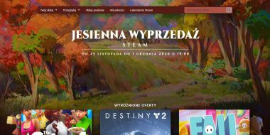 Steam rozpoczyna jesienną wyprzedaż i głosowanie na Nagrody Steam