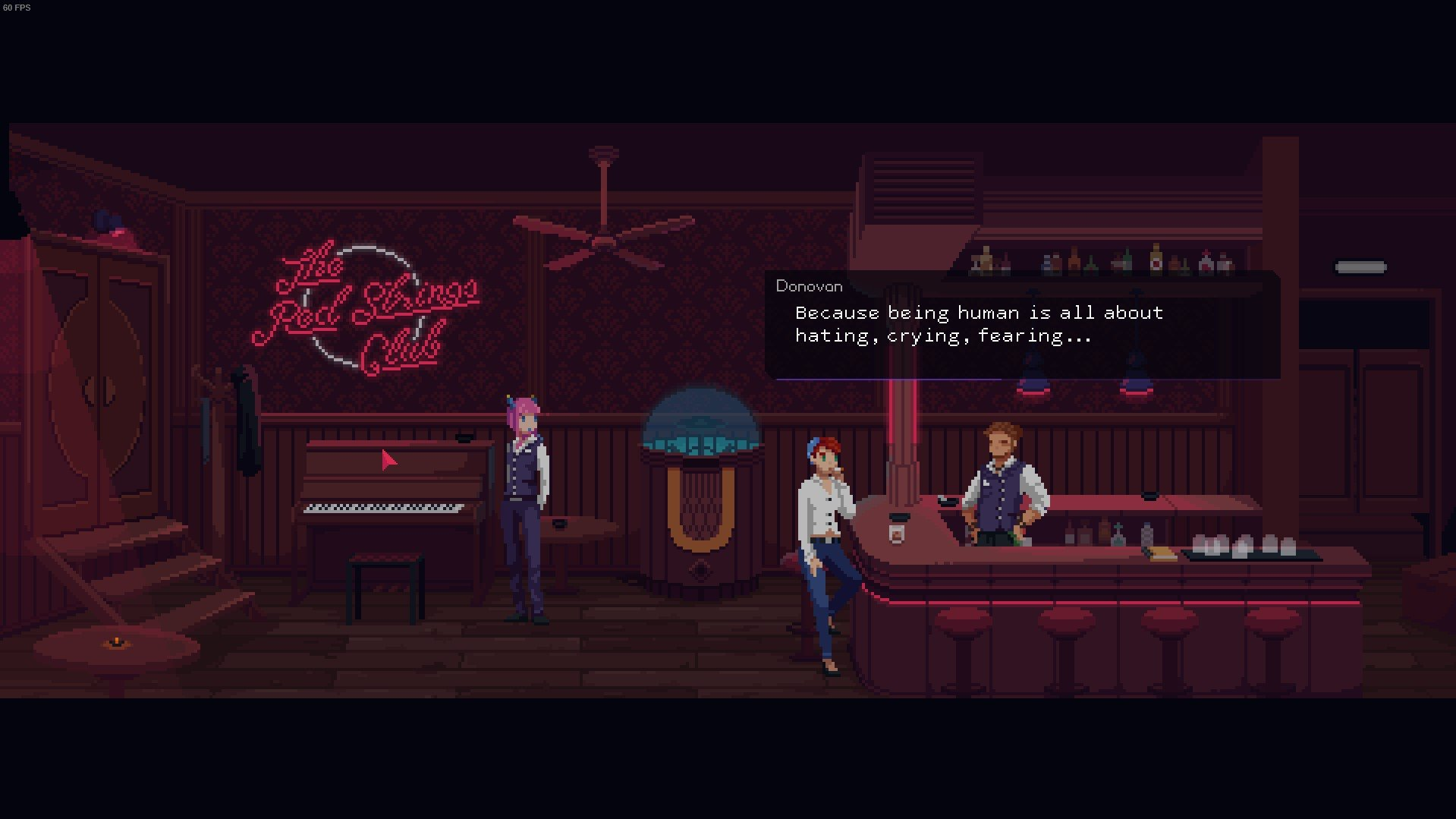 The Red Strings Club - screeny z gry
