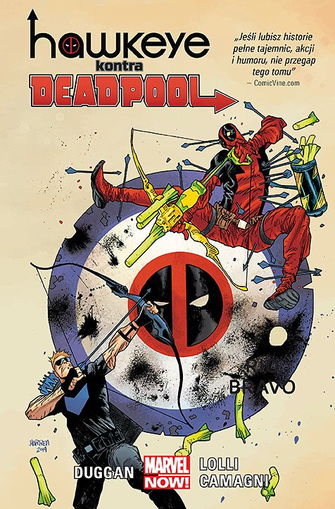 Hawkeye kontra Deadpool - okładka