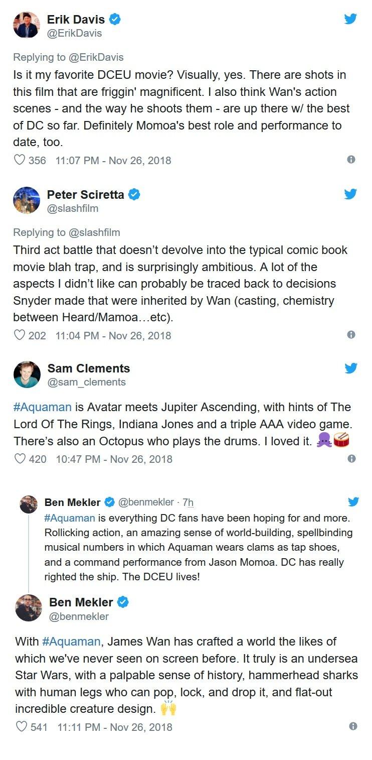 Aquaman - pierwsze opinie krytyków
