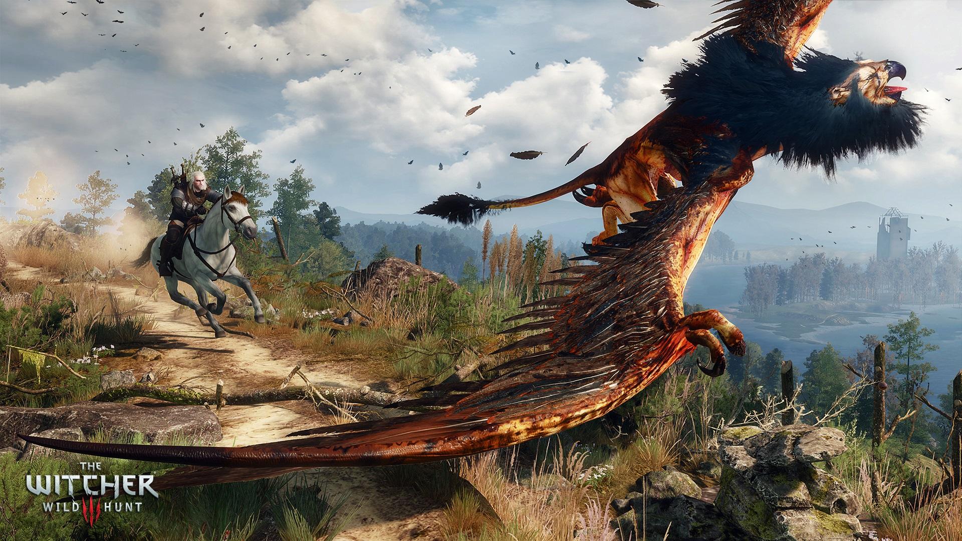Starcie z gryfem z Białego Sadu - pierwszym poważniejszym przeciwnikiem, który staje na drodze Geralta