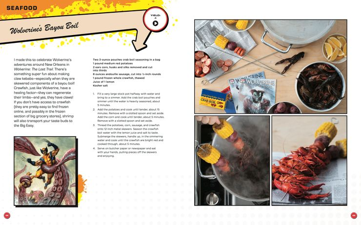 Marvel - książka kucharska; fragmenty