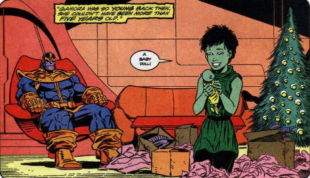 Thanos i Gamora w komiksach