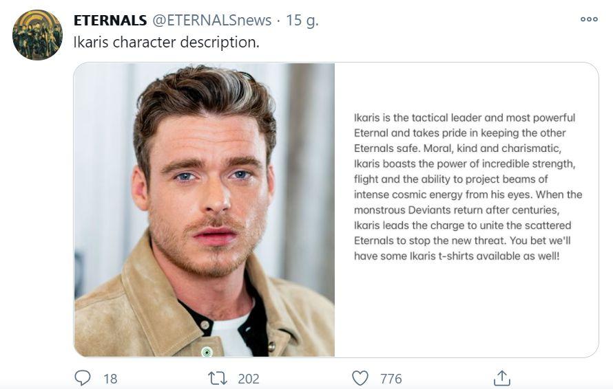 Eternals - opisy postaci